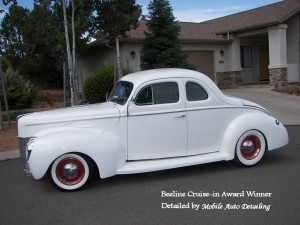 White 40 Deluxe Coupe (2) Award Winner